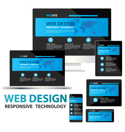 Illustration for responsive web design concept vector  - Royalty Free Image