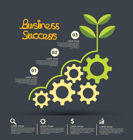 Ilustración de Business Success concept vector illustration. - Imagen libre de derechos