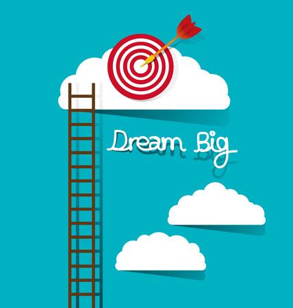 Illustration for Dream big concept vector illustration. - Royalty Free Image