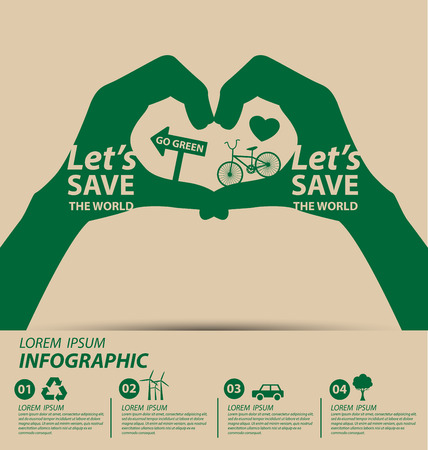 Illustration pour Ecology concept. save world vector illustration. - image libre de droit