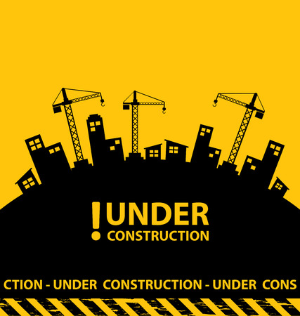 Photo pour under construction background vector illustration - image libre de droit