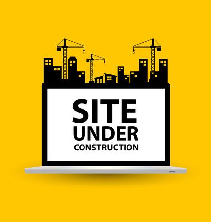 Photo pour under construction background vector illustration - image libre de droit