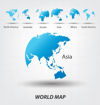 Illustration pour World Map vector Illustration - image libre de droit