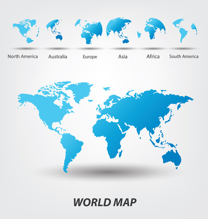 Illustration pour World Map vector Illustration - image libre de droit