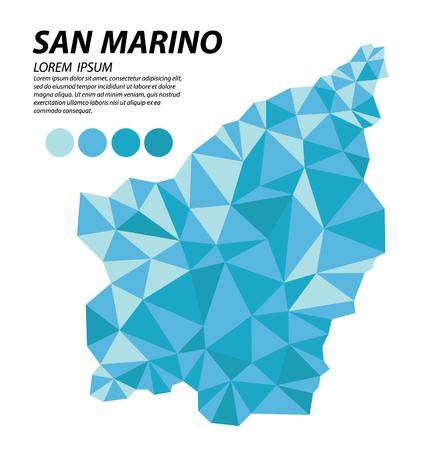 Illustration pour San Marino geometric concept design - image libre de droit