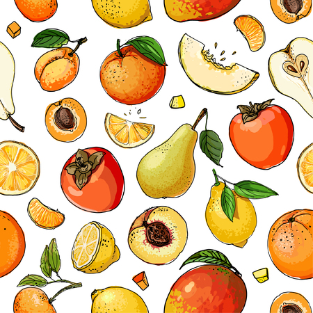 Foto per Pattern of painted colored fruit - Immagine Royalty Free