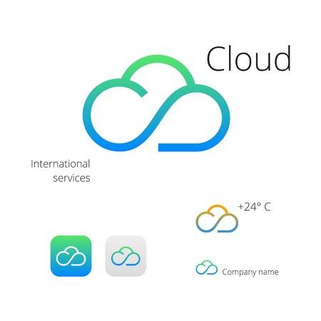Illustration pour Cloud stylish  icons - image libre de droit
