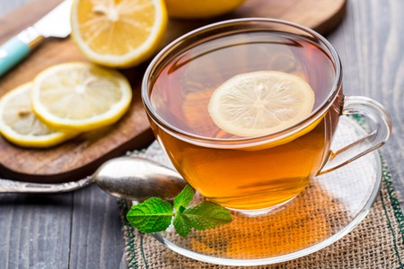 Photo for Cup of tea with mint and lemon - Royalty Free Image
