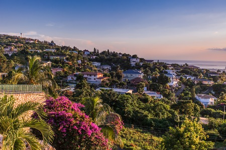 Photo pour Kingston city in Jamaica sunset - image libre de droit