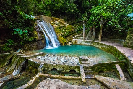 Photo for Xilitla ruins in Mexico pueblo magico place - Royalty Free Image