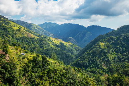 Photo pour Blue mountains of Jamaica where coffee is grown at day - image libre de droit