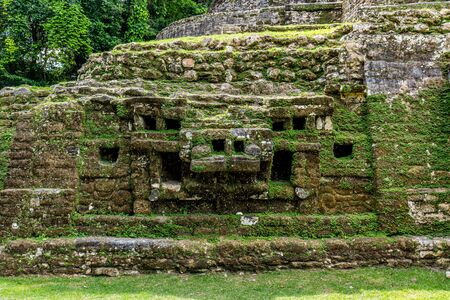 Photo for Lamanai archaeological reserve mayan ruins Jaguar Temple Belize - Royalty Free Image