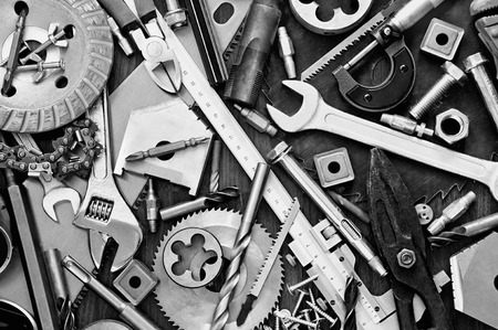 Photo for Background of Building and measuring tools - Royalty Free Image