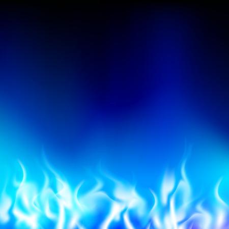 Illustration pour blue flame on a black background - image libre de droit