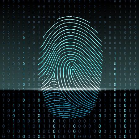 Ilustración de fingerprint scan - Imagen libre de derechos