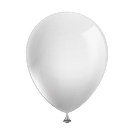Illustration pour white balloon isolated on white background - image libre de droit