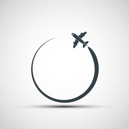 Illustrazione per Vector icons aircraft - Immagini Royalty Free