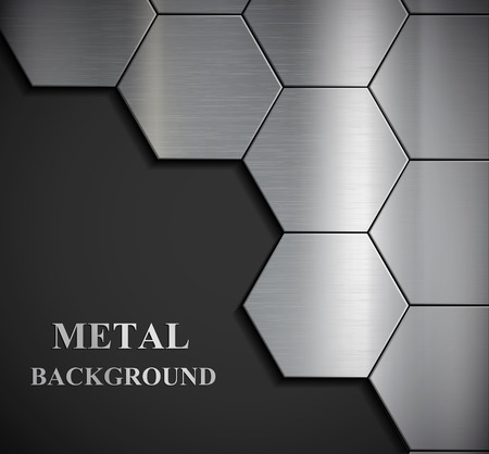 Illustration pour Background of the metal plates. Vector image. - image libre de droit