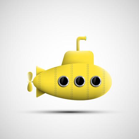 Ilustración de Yellow metal submarine. Vector image. - Imagen libre de derechos