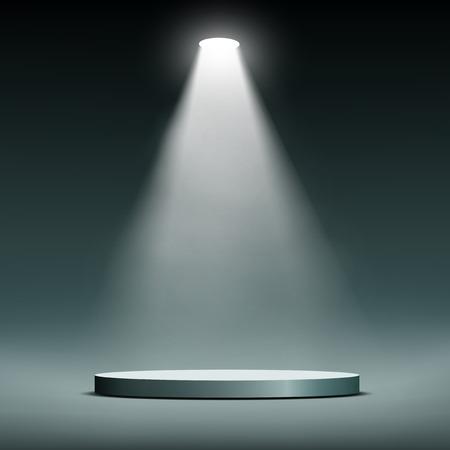Ilustración de Lantern illuminates round scene. Vector image. - Imagen libre de derechos