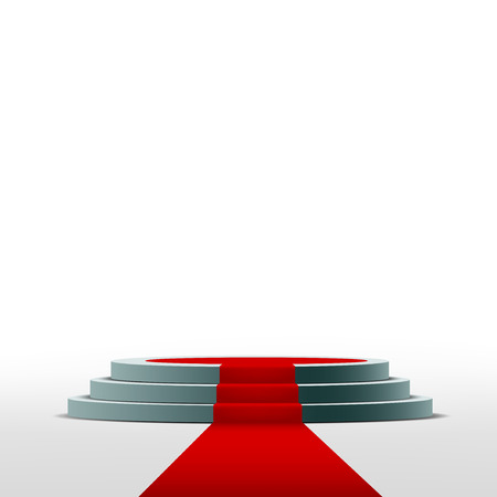 Illustration for Podium for the ceremony and presentation - Royalty Free Image