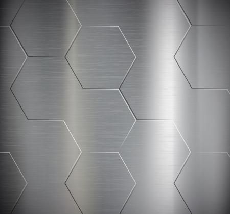 Texture of metal. Geometric pattern. Stock Vector.