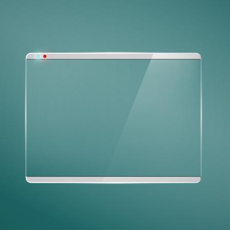 Illustration pour Transparent glass futuristic screen. - image libre de droit