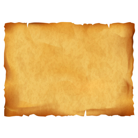 Illustration pour Old parchment isolated on white background. Stock vector illustration. - image libre de droit