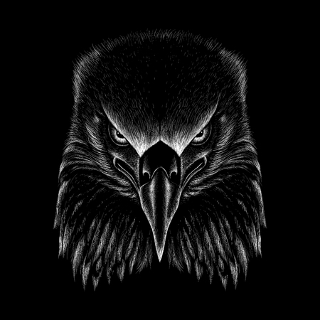 Illustration pour The Vector eagle for T-shirt design or outwear. Hunting style eagle background. - image libre de droit