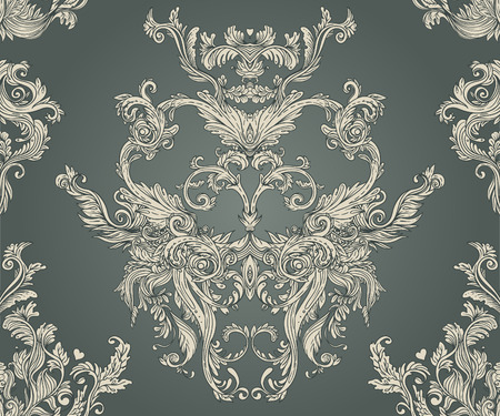 Photo pour Vintage background ornate baroque pattern, vector illustration - image libre de droit
