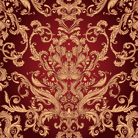 Illustration pour Vintage background ornate baroque pattern, vector illustration - image libre de droit