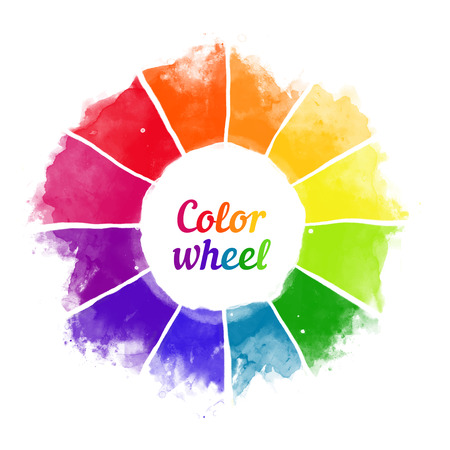 Ilustración de Handmade color wheel. Isolated watercolor spectrum. Vector illustration. - Imagen libre de derechos