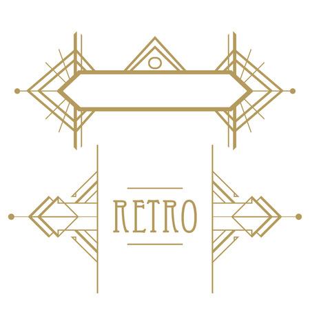Ilustración de Art deco geometric pattern (1920's style) - Imagen libre de derechos