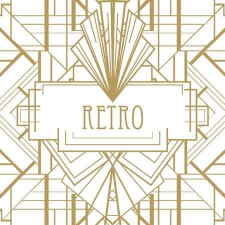 Illustration pour Art deco geometric pattern (1920's style) - image libre de droit