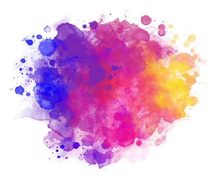 Illustration pour Abstract vector watercolor background isolated on white. - image libre de droit