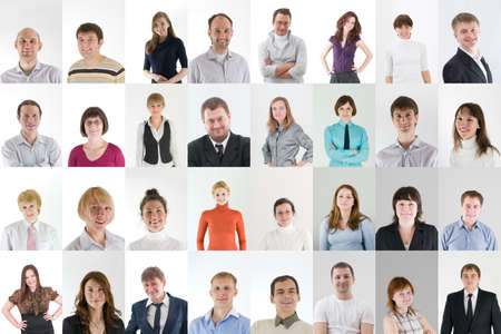 Photo for social network collage with a lot of people - Royalty Free Image