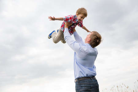 Photo for father with son having fun - Royalty Free Image