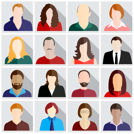 Illustrazione per people icons - Immagini Royalty Free