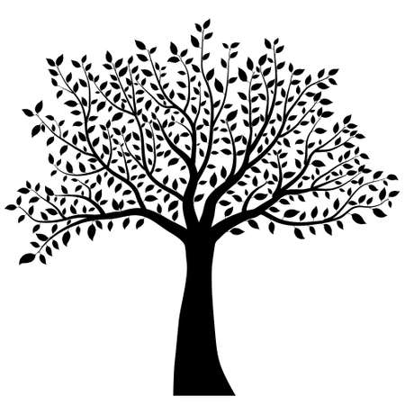 Illustration pour tree silhouette vector - image libre de droit