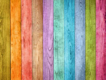 Photo pour colored wood background - image libre de droit