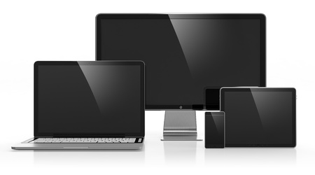 Photo for 3D illustration of electronic devices isolated on white - Royalty Free Image