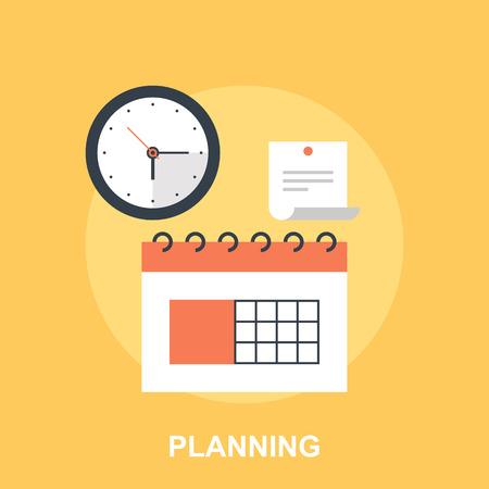 Illustration pour Planning - image libre de droit