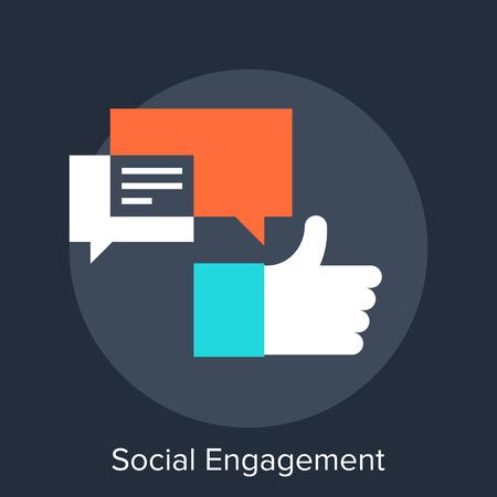 Illustration pour Social Engagement - image libre de droit