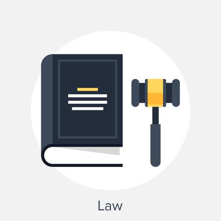 Illustration pour Law Concept - image libre de droit