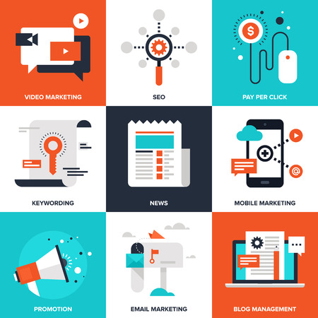 Illustration pour Digital Marketing illustration - image libre de droit