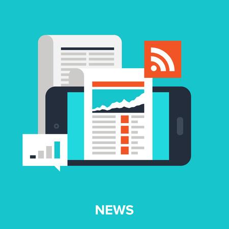 Illustration for mobile news - Royalty Free Image