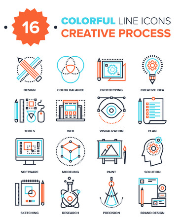 Illustration pour Creative Process - image libre de droit