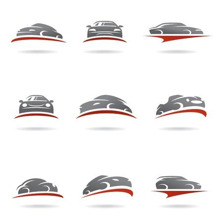 Illustration pour Car set - image libre de droit
