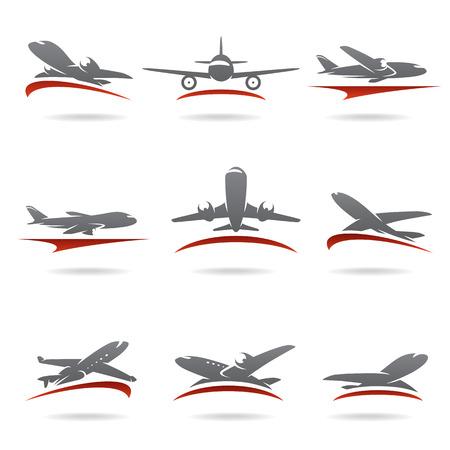 Illustration pour Airplane set  Vector - image libre de droit
