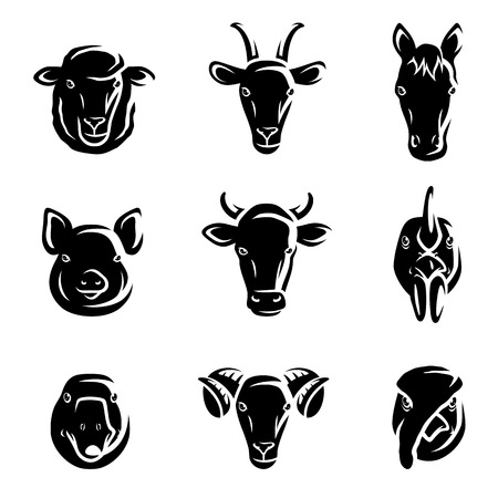 Photo pour Farm animals set  Vector - image libre de droit